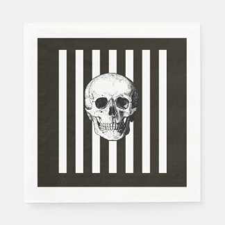 Black and white skull napkins disposable serviette