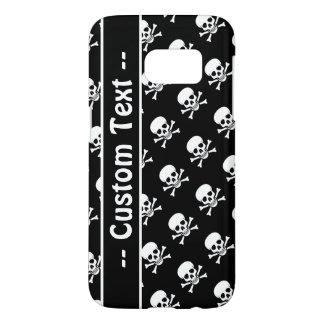 Black and White Skull Pattern Case w/ Custom Text