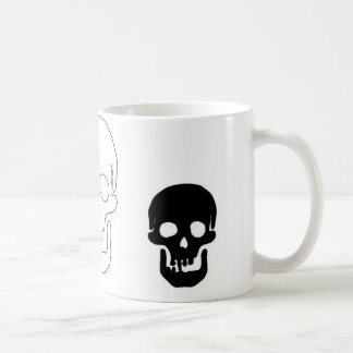 Black and White Skulls of three Coffee Mug
