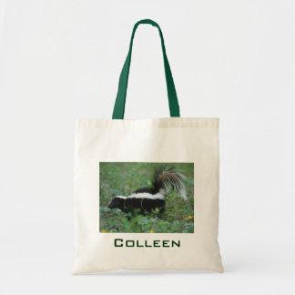 Black and White Skunk Bag