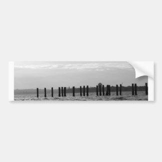 Black and White Sky Posts Bumper Stickers