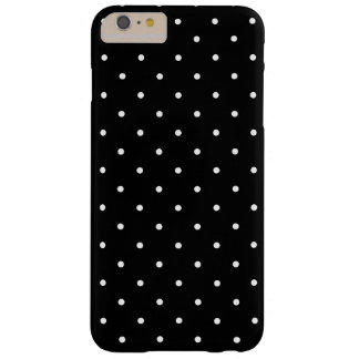 Black and White Small Polka Dots Pattern Girly Barely There iPhone 6 Plus Case