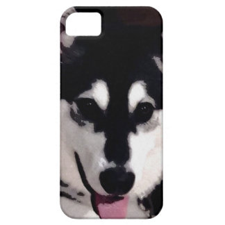 Black and white smiling Alaskan Malamute Barely There iPhone 5 Case