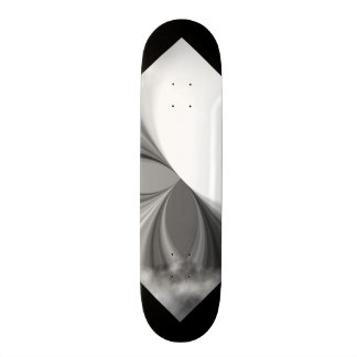 Black and White Smoke Pattern Customizable Deck 3 Custom Skate Board