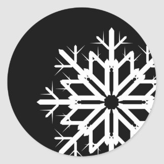 Black and White Snowflake Sticker