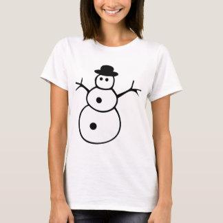 Black and White Snowman T-Shirt