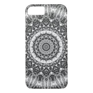 "Black and White ""Snowy Creek"" Mandala Kaleidoscope iPhone 8/7 Case"