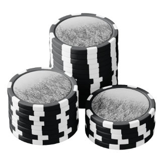 Black and White Snowy trees Poker Chips