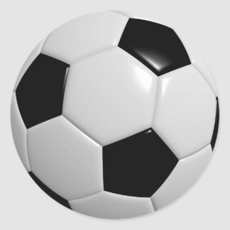 Black and White Soccer Ball Round Sticker