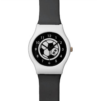 Black and White Soccer Wristwatch
