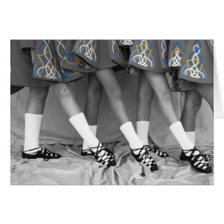 Black and White Soft Shoe Dancers Blank Card