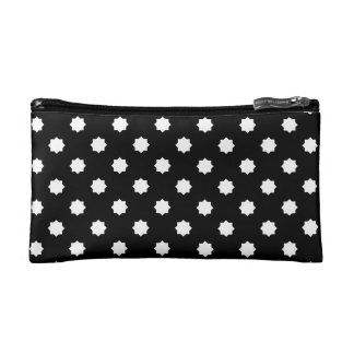 Black and white sophisticated bag cosmetic bags