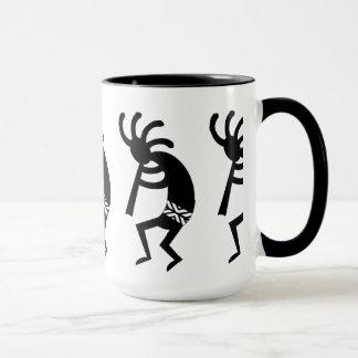 Black And White Southwest Kokopelli Mug