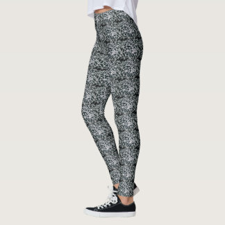 Black and White Spider Web Elegant Classic Pattern Leggings