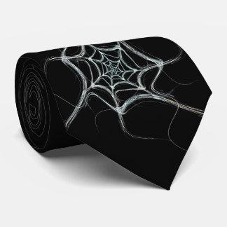 Black and White Spider Web Necktie