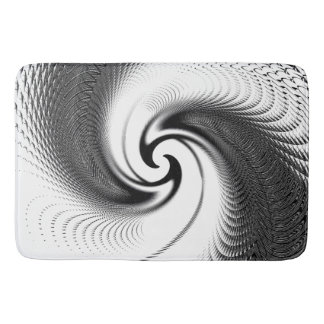 Black and White Spiral Bath Mats
