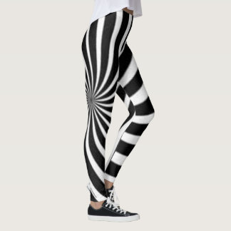 Black and White spiral Leggings