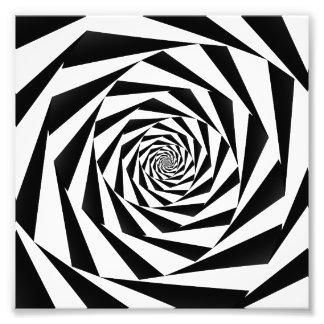 Black and White Spiral Photo Art