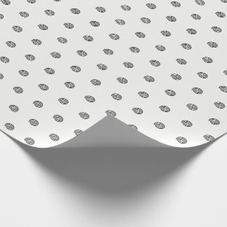"""Black and White"" Spiral Polka Dots Wrapping Paper"