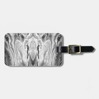 black and white splash luggage tag