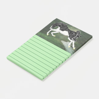 Black and White Splash Overo Horse Post-it Notes