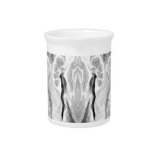 black and white splash pitcher