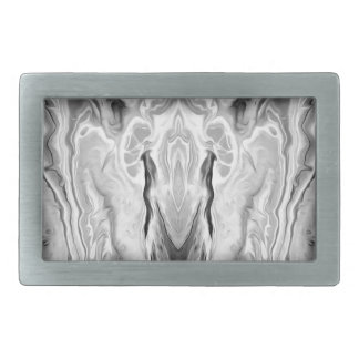 black and white splash rectangular belt buckle