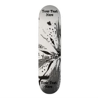black and white splashes abstract street art style 19.7 cm skateboard deck