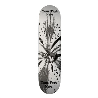 black and white splashes abstract street art style skate boards