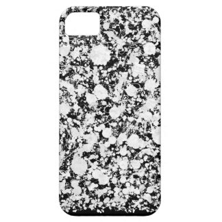 Black and white splatter of paint iPhone 5 cover