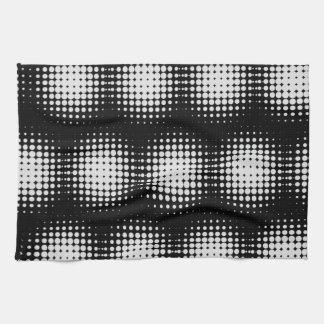 Black And White Spot Pattern Tea Towel