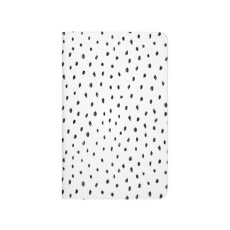 Black and White Spot Pocket Journal