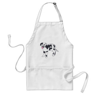 Black and White Spotted Dog Aprons