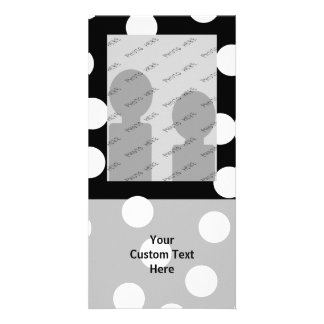 Black and White Spotty Design Photo Cards