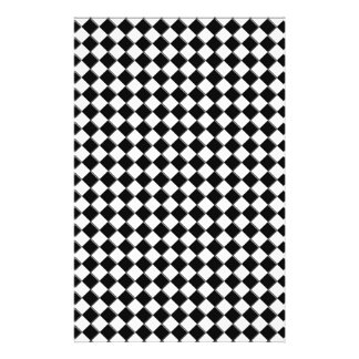 Black and White square Custom Stationery