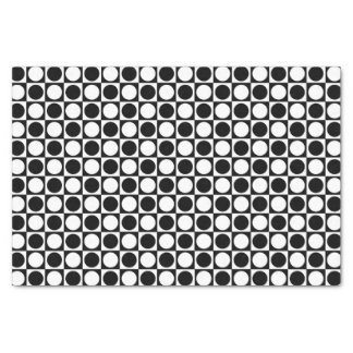 Black and White Squares and Polka Dots Tissue Paper