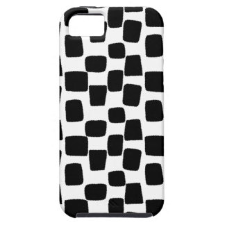 black and white squares iPhone 5 covers