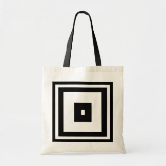 Black and White Squares Tote Bag