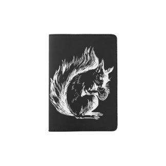 Black and White Squirrel Design Passport Holder