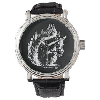 Black and White Squirrel Design Wrist Watch