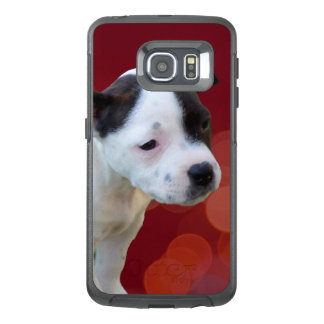 Black And White Staffordshire Bull Terrier Puppy, OtterBox Samsung Galaxy S6 Edge Case