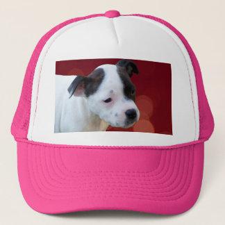 Black And White Staffy Puppy, Trucker Hat