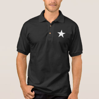 Black and White Star Polo Shirt