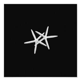 Black and White Starfish Wedding Invitation