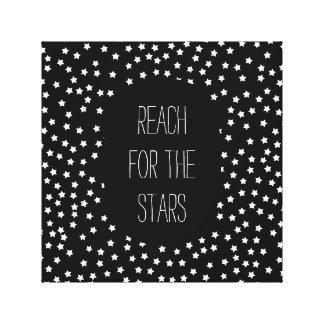 Black and White Stars Canvas Print