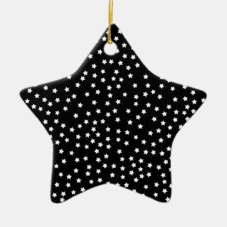 Black and White Stars Ceramic Star Decoration