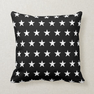 Black and White Stars Cushion