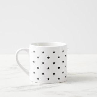 Black And White Stars Pattern Espresso Cup