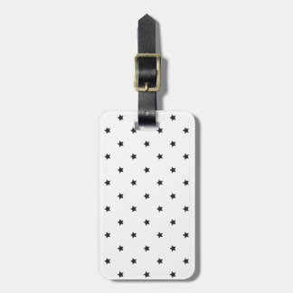 Black And White Stars Pattern Luggage Tag