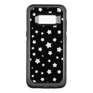 Black and white stars pattern OtterBox commuter samsung galaxy s8 case